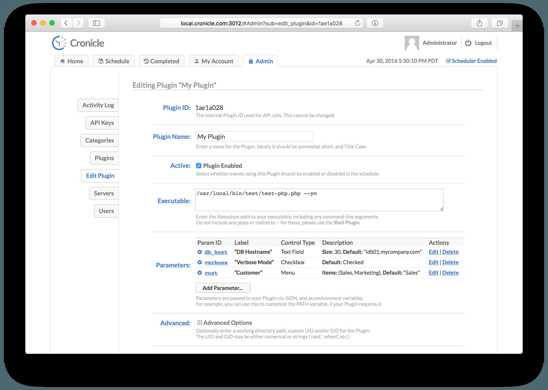 Edit Plugin Screenshot