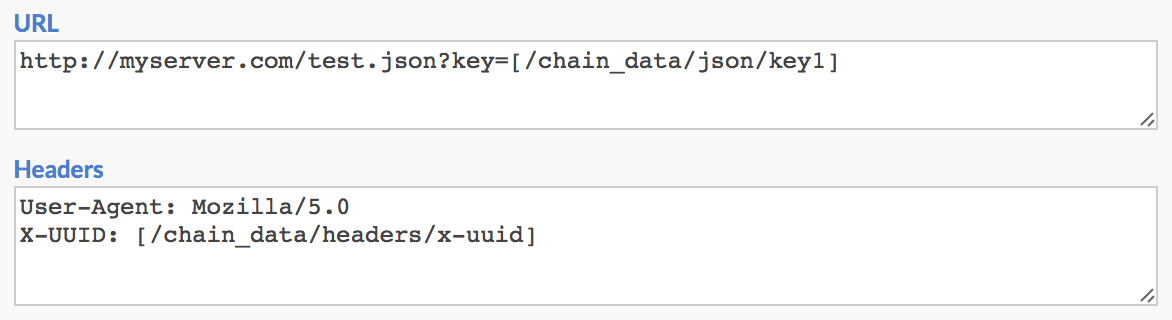 HTTP Request Chain Data