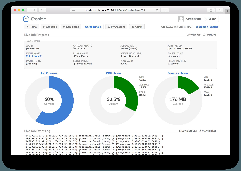 Job In Progress Screenshot
